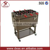 Football table game metal ice beer cooler box with wheels (C-012)