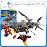 Mini Qute Senye Marvel Avenger super hero Batman Fighter plane chariot building block action figures educational toy NO.SY 313
