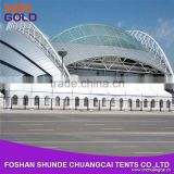 Large Commercial 30X60M Clear Span Tent Trade Show Tent With White PVC Cover Clear Window