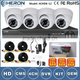 2016 4channel cheapest big promotion cctv security kit with color box and cable