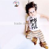 2015 Baby boy sets clothing top and pants matching baby boy and girl outfits