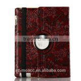 Rotating folding leather case cover for ipad air 2 with auto sleep wake function