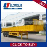 High quality low bed trailer for sale container loader 40ft flatbed semi trailer cimc