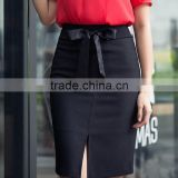 elegant High Waist Long Split Wrap Office Ladies skirt formal Belted Pencil Skirt business women suit