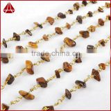 Tiger's Eye Chips Beads Rosary Chain Roll For Necklace OR Bracelet DIY