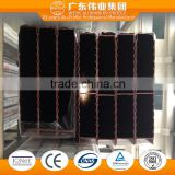 6063 T3-T8 0.8-1.4mm aluminum extruded for Bow Windows with fluocarbon coating spraying finish