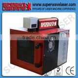 Hot New Enclosed Type Desktop Mini Craft Fiber Laser Engraving Cutting Machine for Gold and Silver