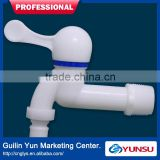 YunSu K04B Plastic Ceramic Cartridge Faucet Water Tap With Connection And Longer Inlet DN20 Blue