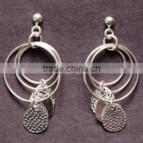 Jaipur jewelry oxidized sterling silver earrings