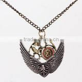 51 CM Long Chain Antique Gold Steampunk Style Pendant Necklace from Yiwu Market