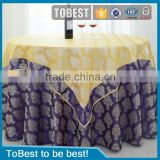 ToBest Hotel supplies 100% polyester faric table cloth for hotel / Jacquard round table cloth Restaurant Chair cover