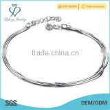 New year gift jewelry 7~8'' white gold ankle bracelet slave anklet bracelets hotwife anklet