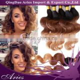 6A Ombre 3 tone Brazilian body wave human hair extensions 100g bundle,Beauty Colorful Brazilian virgin hair ombre weave