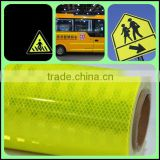 Super high intensity micro-prismatic reflective sheeting, wholesale fluorescent yellow reflective sheeting for safety signs