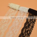 15yards White black Stretch Floral Scallop Lace Trim for Lingerie Headband Elastic DIY lace wide:6cm