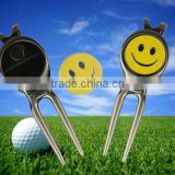 No mold fee golf divot repair tool with golf ball marker