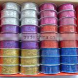 Hot selling Wire edge christmas decorative ribbon