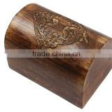 Store Indya Wooden Keepsake Storage Chest Jewelry Trinket Box Organizer Multipurpose with Hand Carved Celtic Design