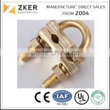 Brass clamp for earth rod and electric cable