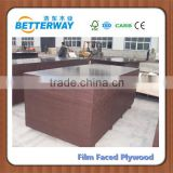 Betterway 18mm black/brown/phenolic film faced plywood/shuttering plywood/panel/formwork concrete laminated Marine plywood