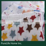 SZPLH High Quality Muslin Fabric For Baby Blanket For Custom Printed Cotton Blanket