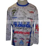 Polyester breathable round neck sublimation long sleeve fishing t shirt