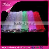 High tech optic fiber luminous 7 color bandage fabric for dress