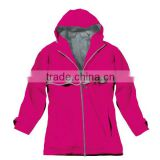 Breathable waterproof wholesale ladies nylon raincoat