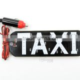 45SMD 12V Cigarette Lighter Socket Suction Taxi LED Board Light LED Taxi Sign Light Taxi Cab Top Lamp