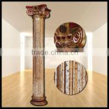 Ancient tone diameter 30 centimeter cover with special color leaf resin roman column