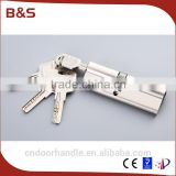 70mm double open mortise lock cylinder security lock cylinder anti drill lock cylinder                                                                                                         Supplier's Choice