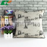 hot style mediterranean style English printing Eiffel Towe cushion cover Cloth art household cotton and linen hold pillow