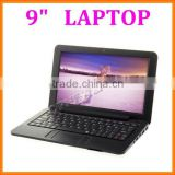 OEM 9 inch mini laptop android 4.4 computer netbook dual core wm8880 wifi bluetooth camera rj45 usb2.0 port external 3g