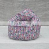 Butterfly printed fabric bean bag chairs bulk (NW918R)