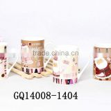 Liling 11oz bone china mug coffee mug ceramic mug with christmas printing cute for chirdren
