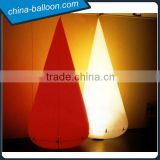 Decorative inflatable LED cone / LED light inflatable triangle pillars for outdoor event