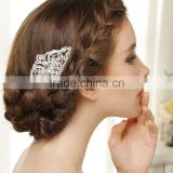 Vintage Silver Wedding Bridal Diamante Rhinestone Hair Comb Accessories Jewelry Bride Head Piece Hairpin Clip