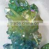 popular small colourful aura quartz crystal cluster