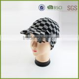 Acrylic Knitted Hat Cap Custom jacquard pattern Blank Beanie with Visor