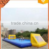 hot sale Giant inflatable soap water soccer field, inflatable paintball field, inflatable football field for activity