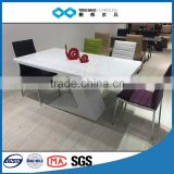 TB 2016 high gloss white dining table white lacquer table set
