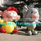 advertisement equipment interesting inflatable doll cartoons for kids, cute infltable modle cartoon doll for children