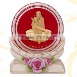 crystal paper weight inside 3d gold foil mahavir design selling in cheap price
