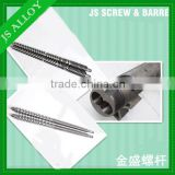 Twin screw and barrel with chrome plating for plastic machine