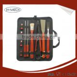 BBQ Set - 7 Piece Grilling Tools Apron,Fork,Spatula,Tongs,S&P Shakers Grill Mitt
