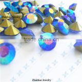Hot fix point L-Sapphire AB rough gemstone price loose rhinestone for jewelry