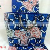 Haniye Latest 2016 African Ankara Fabric wax And Bags/Wax Shoes And Bags/African wax And Bags Match for Wholesale/DFAWB-13