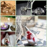 DIY ITEMS>> many sizes and shapes >> dry flowers , beads can be put in the small & large & medium Cylinder round glass cover