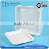 Square plastic airline product white disposable dish