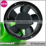high speed energy saving CE RoHS Approved 172x51mm Round ac axial fan 115v 230v ac fan for Industrial Equipment